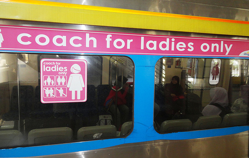 Photo of a Coach for Ladies Only, KTM Komuter, Kuala Lumpur