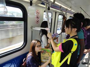 Aboard LRT, Kuala Lumpur