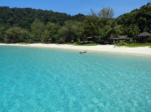 View of Perhentian Island Resort Beach, Perhentian Besar, Malaysia