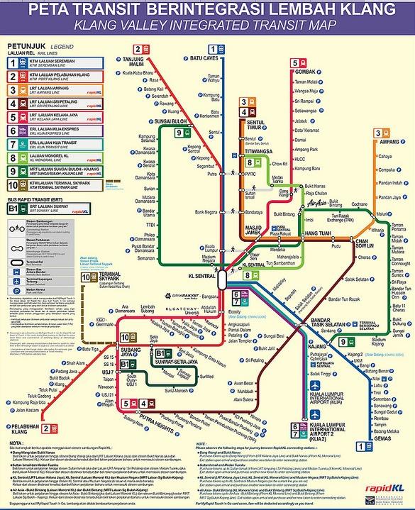 Kuala Lumpur Transportation Map