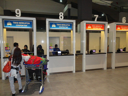 Photo of Prepaid and Metered Taxi Counters at KLIA2 in Malaysia