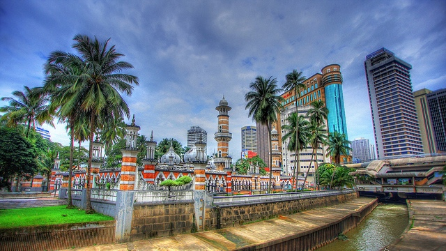 A Photo of Masjid Jamek, Kuala Lumpur
