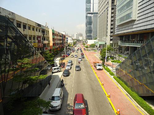 Jalan Tun Sambanthan from Monorail Station, Sentral, Kuala Lumpur, Malaysia