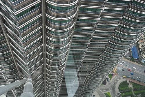 Petronas Towers from Skybridge, Kuala Lumpur