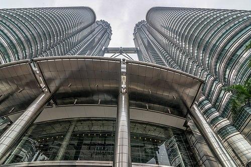 Petronas Towers, the Twin Skyscrapers, Kuala Lumpur, Malaysia