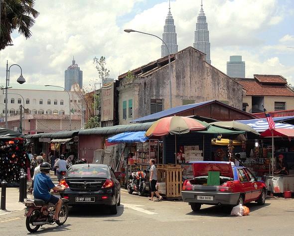A Photo of Chow Kit Market in Kuala Lumpur, Malaysia