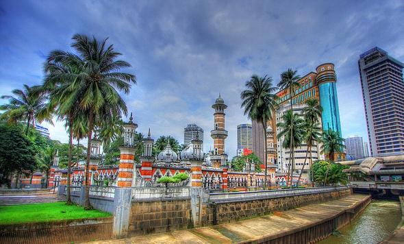 Masjid Jamek (Jamek Mosque), Kuala Lumpur, Malaysia