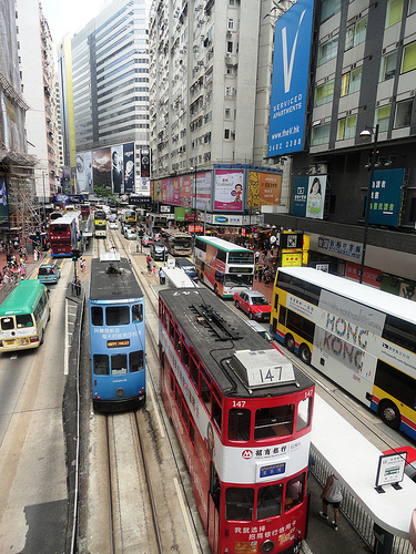 Photo of Buses and Trams, Hong Kong Island