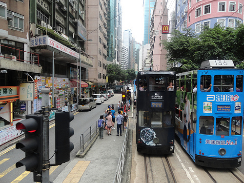 Photo of Trams in Hong Kong