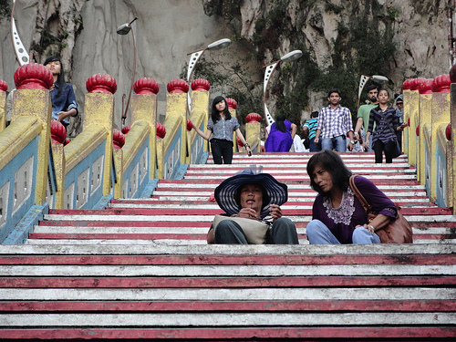 Photo of the stairs to Batu Caves, near Kuala Lumpur