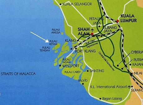 Pulau Ketam Map