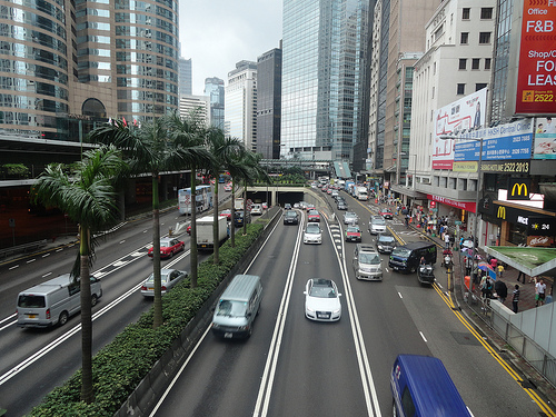 Photo of Connaught Road in Central, Hong Kong Island
