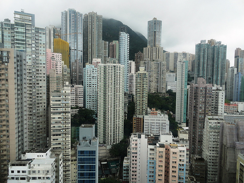Photo from 37th floor Holiday Inn Express SoHo, Sheung Wan, Hong Kong Island