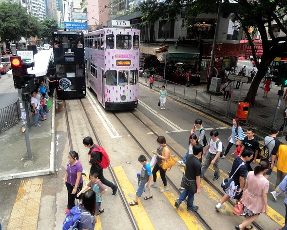 Photo of Hong Kong Island Trams on Johnston Road, Wanchai, Hong Kong Island