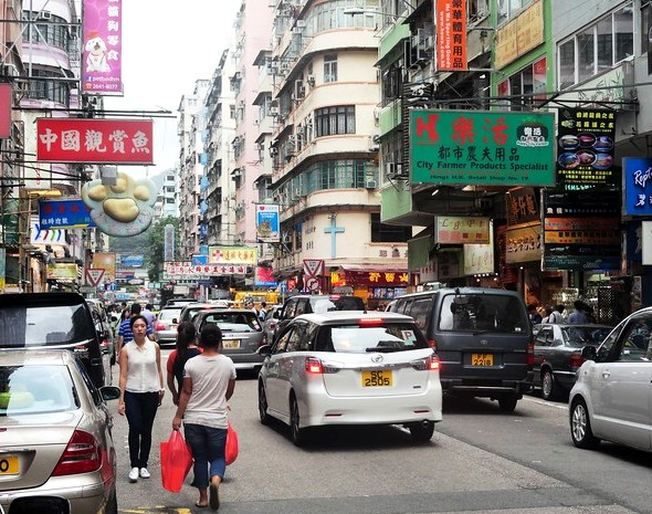 Photo of a Street in Mongkok, Kowloon, Hong Kong