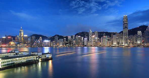 Hong Kong Island and Victoria Harbour from Tsim Sha Tsui, Hong Kong