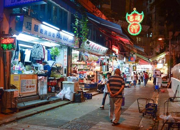 Quiet Street in Wan Chai, Hong Kong Island