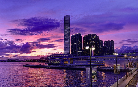 Harbour City Mall and ICC Building, Kowloon, Hong Kong