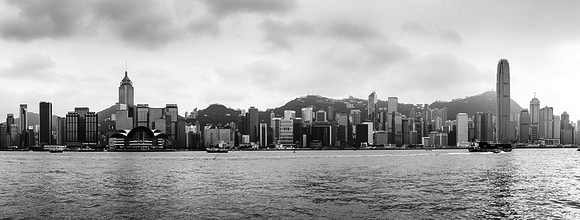 Photo of Central Plaza Building (on the left) and 2 ifc Building (on the right), Hong Kong