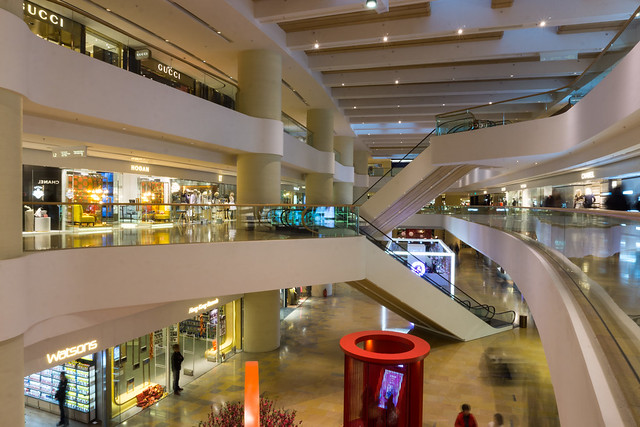 A Shopping Mall in Hong Kong