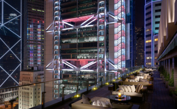 Photo of SEVVA Rooftop and HSBC Headquarter in Hong Kong