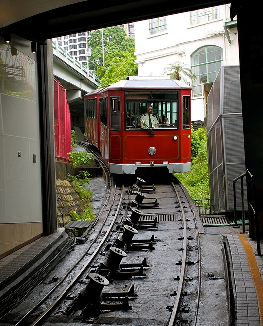 Photo of the Peak Tram in Hong Kong