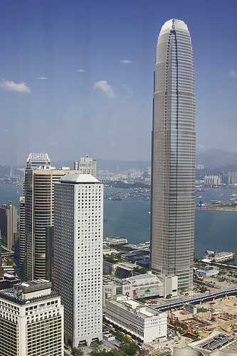 Photo of 2 ifc Building from Bank of China Tower in Hong Kong