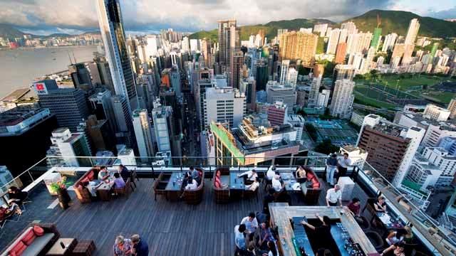 Wooloomooloo Rooftop, Wan Chai, Hong Kong Island, Hong Kong, China, Asia