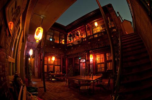 Hostel Courtyard, near Houhai Park, Beijing, China