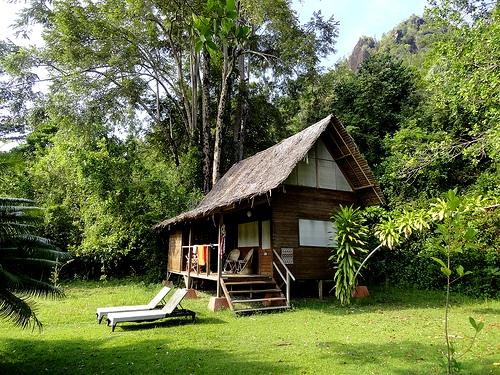 Bungalow at Paradiso Village, Pulau Cubadak, Sumatra, Indonesia