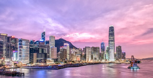 Central in the Evening, Hong Kong Island