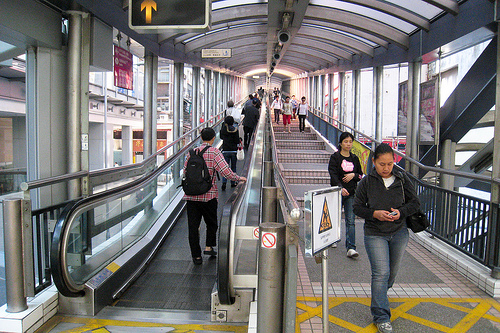 Photo Central to Mid-Levels Escalator in Hong Kong Island