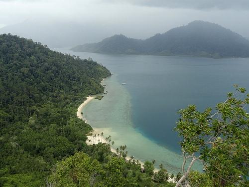 Pulau Cubadak from top of the Hill above Paradiso Village, Sumatra, Indonesia