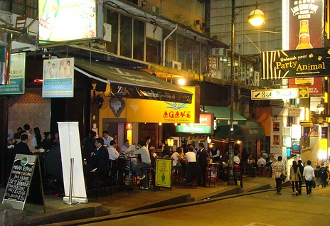 Photo of Lan Kwai Fong in Hong Kong Island