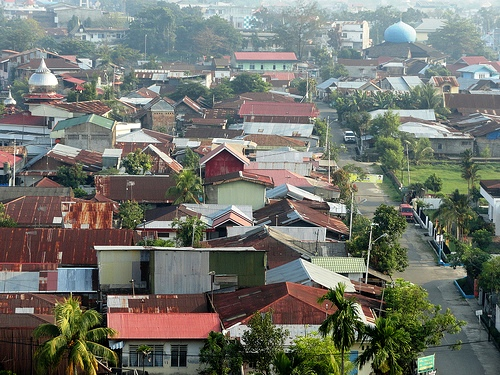 View of Padang city center from Mercure Hotel Padang, Sumatra, Indonesia