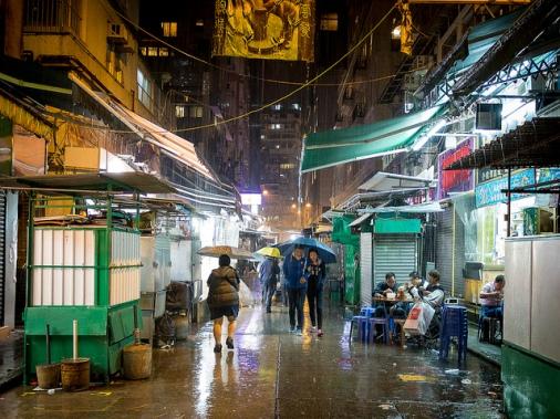 Street in Wan Chai, Hong Kong Island