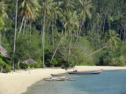 The Beach at Pulau Cubadak, Sumatra, Indonesia