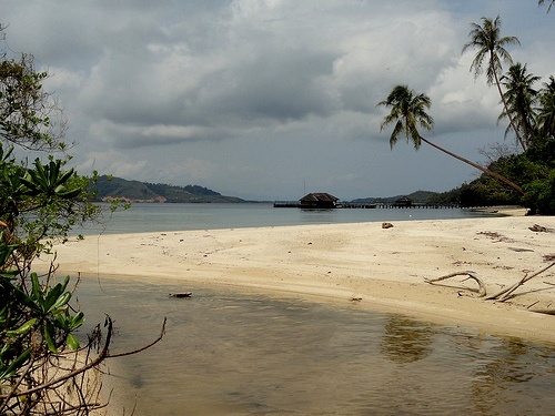 The Beach in a Cloudy Day, Pulau Cubadak, Sumatra, Indonesia