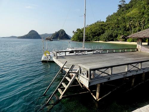 The Pier at Paradiso Village, Pulau Cubadak, Sumatra, Indonesia