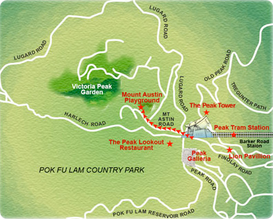 Victoria Peak Hong Kong Map