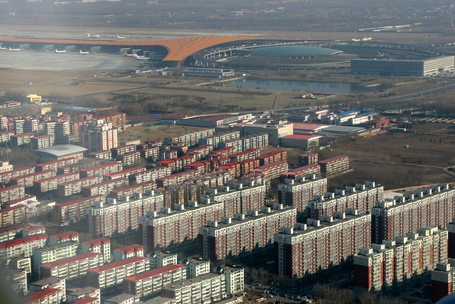 Beijing Capital Airport from the Air, Beijing, China