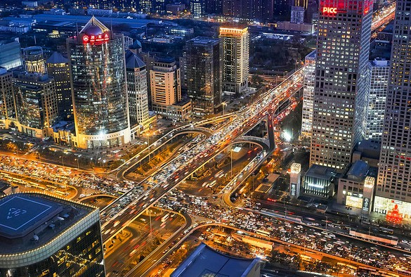 View of Beijing at Night