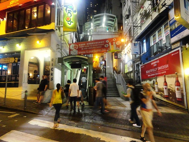 Central to Mid-Levels Escalator in SoHo, Hong Kong Island