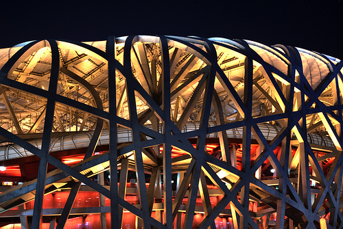 Bird's Nest, the Beijing National Stadium, the Olympic Stadium, Beijing, China