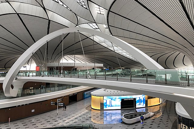 Interior of Beijing Daxing International Airport, Beijing, China