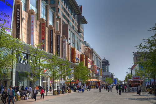 Photo of Wangfujing, the Pedestrian Street of Beijing, China