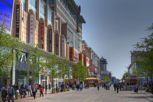 Photo of Wangfujing, the Pedestrian Street of Beijing, China