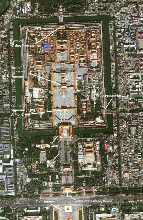 Forbidden City Map, Beijing