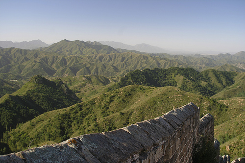 View of the Great Wall from Jinshanling to Simatai