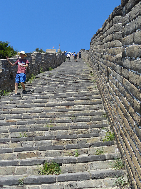 Mutianyu Great Wall Stairs, China
